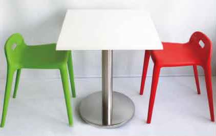 【南洋風休閒傢俱】造型椅系列 – 小馬椅(YT736-11)+60美耐板桌 點心椅/塑膠椅/兒童椅/休閒椅(538-6)