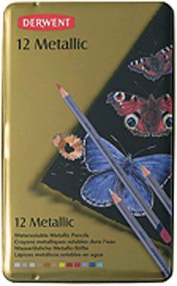 Derwent 答爾文 Metallic系列12色彩色金屬色鉛筆*0700456