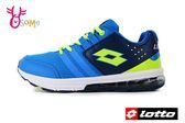 LOTTO樂得 義大利 大童 女款 SWIFT RUN 氣墊跑鞋 網布運動鞋 慢跑鞋 M8612#藍色◆OSOME奧森童鞋