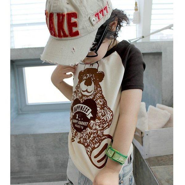 韓版《快樂小熊款》百搭短袖上衣