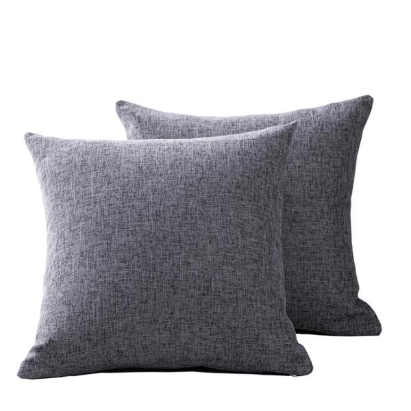 純色亞麻沙發抱枕靠墊客廳靠枕床頭大號靠背抱枕套不含芯棉麻定制 樂活生活館