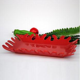 長方形珊瑚水果盤
