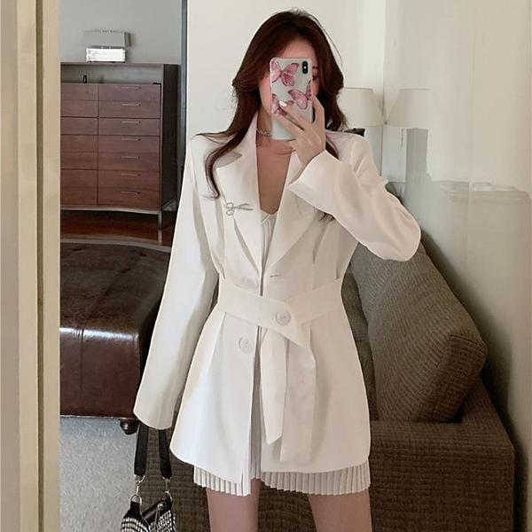 炸街白色西裝外套女夏季