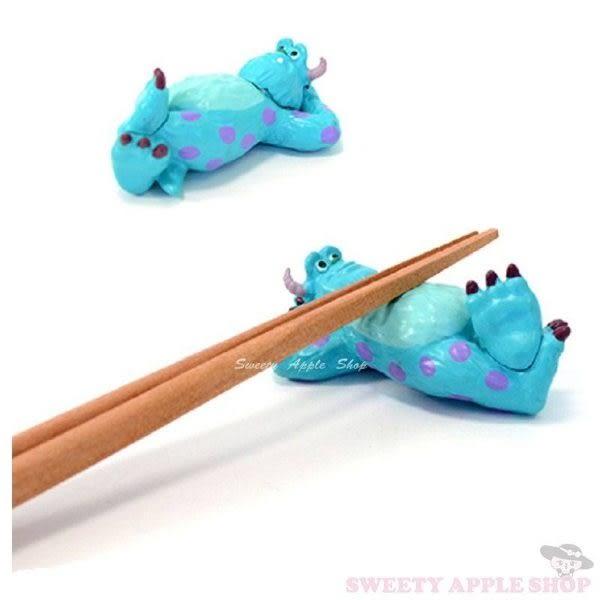 日本限定 怪獸大學 毛怪薩利 3D造型筷架