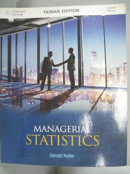 【書寶二手書T4/大學商學_ZBO】Managerial Statistics_Gerald Keller作