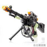 仿真男孩兒童電動玩具槍聲光沖鋒槍機關槍玩具套裝音樂3-4-5-6歲 locn