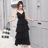【降價兩天】大尺碼洋裝 新款2019韓版寬鬆顯瘦大碼仙女中長款打底減齡連身裙