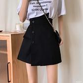 褲裙 大碼胖mm高腰寬鬆顯瘦休閒西裝短褲子2021春夏新款a字闊腿裙褲女 萊俐亞