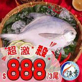 【漁季】開運白鯧慶有餘*3(350g±10%/尾)