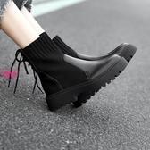 YoYo 襪靴 馬丁靴 瘦瘦靴 短靴 襪靴 英倫風 機車靴