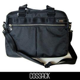 Backbager 背包族【COSSACK】 STYLING風格系列 15吋雙層電腦托特包/公事包 黑色