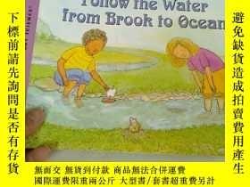 二手書博民逛書店p平裝罕見Follow the Water from Brook to OceanY197114 Arthur