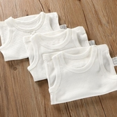 女童背心內衣 純棉無袖背心嬰兒寶寶吊帶兒童裝內衣男童女童打底衫睡衣薄純白色 寶貝計書