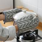 隔熱手套微波爐家用廚房棉布防燙耐高溫五指靈活烘焙烤箱加厚手套