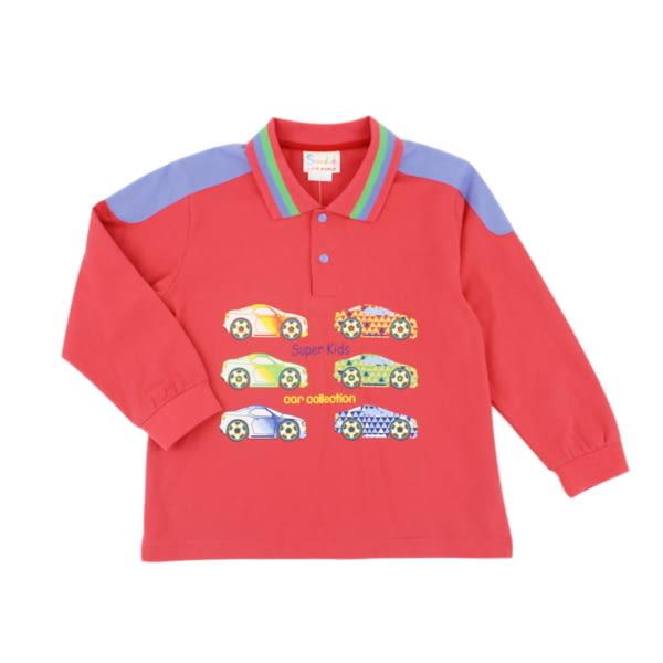 【愛的世界】純棉薄長袖POLO衫/6~8歲-台灣製- ★秋冬上著