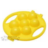 〔小禮堂〕日製圓形飯糰壓模《黃.足球.黃盒裝》創意便當輕鬆做 4973307-19470