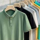 2021新款男士高端純色Polo衫短袖t恤男裝夏季上衣服翻領潮流韓版 露露日記