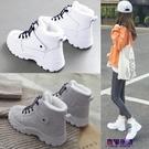 雪靴 馬丁靴女2019新款冬鞋保暖厚底鞋冬季雪地靴加絨女鞋加厚棉鞋