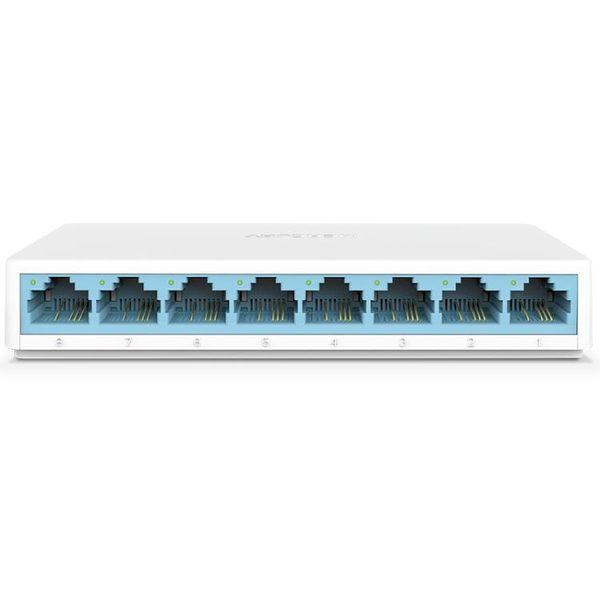 八口百兆交換機監控8口交換器家用網線分流網路集線分線器【快速出貨】