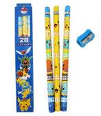 【卡漫城】 神奇寶貝 學前 大 三角 鉛筆 二盒 6支組 ㊣版 2B 削筆器 木頭 Pokemon 寶可夢 精靈 皮卡丘