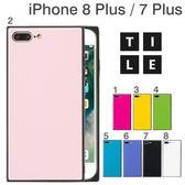 Hamee 日本 EYLE 時尚瓦片素色 iPhone8 Plus/7 Plus 強化玻璃 TPU軟殼 手機殼 (任選) 151-459549