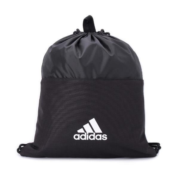 ADIDAS 3-STRIPES GYM BAG束口袋 黑白 CF3286 鞋全家福