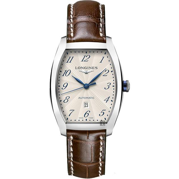 【滿額禮電影票】LONGINES 浪琴 Evidenza 典藏系列機械錶-銀x棕/30.5mm L23424734