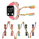 蘋果iwatch4民族風手錶帶毛線手工編織腕帶【英賽德3C數碼館】