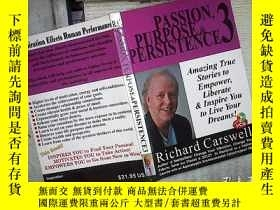 二手書博民逛書店PASSION,罕見PURPOSE&PERSISTENCE 3Y