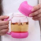 貓咪造型玻璃杯400ML(隨機色)