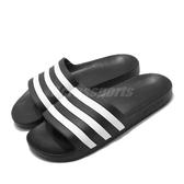 adidas 拖鞋 Adilette Aqua 黑 白 男鞋 女鞋 涼拖鞋 運動拖鞋 【ACS】 F35543