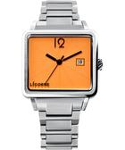 LICORNE 中性簡約時尚系列腕錶-橘/銀 LI005BWYA