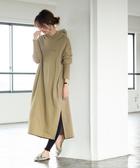 出清 內刷毛連帽上衣 長洋裝  純棉 1M Tompkin 免運費 日本品牌【coen】