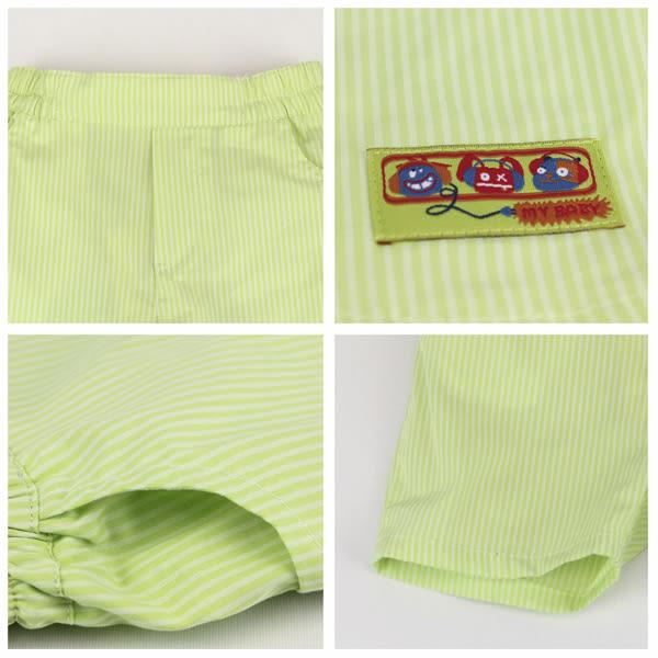 【愛的世界】純棉直條紋五分褲/4歲-台灣製- ★春夏下著