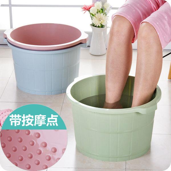 家用帶顆粒按摩足浴盆塑料加厚加深洗腳盆冬季足浴桶泡腳盆洗腳桶