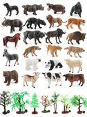 兒童玩具仿真動物模型男孩狼馬大象動物園擺件小老虎  zr422『小美日記』