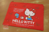 Hello Kitty 凱蒂貓 雙拉鍊資料袋 收納袋 蝴蝶街 紅 KRT-667961