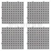 【台灣製USL遊思樂】多向連接方塊 專用操作底板 / 大萬用板(灰色,4pcs)