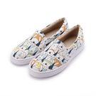 母子鱷魚 企鵝北極熊帆布鞋 白 女鞋 鞋...