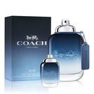 COACH 時尚藍調男性淡香水100ml(贈)同款男性小香水 4.5ml Vivo薇朵