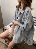 牛仔外套 牛仔外套女春秋新款潮ins鹽系薄長袖襯衫韓版寬松休閑襯衣 風馳