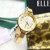 ELLE 原廠公司貨 時尚尖端 12點晶鑽精美女錶 纖細手鍊 防水手錶 金 ES21017B04X【時間玩家】