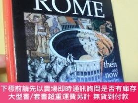 二手書博民逛書店英文原版罕見Rome Then and Now in Overlay by Guiseppe GangiY72