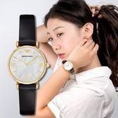 EMPORIO ARMANI 亞曼尼 簡約女士珍珠母鍍金腕錶 AR1910 熱賣中!