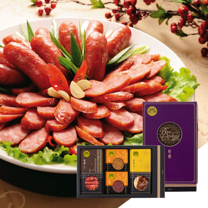 【黑橋牌】典雅好禮禮盒A (香腸、臘肉、肉乾、肉酥)