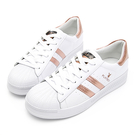 PLAYBOY 經典升級 亮蔥條紋仿皮休閒鞋-玫瑰金(Y6318)
