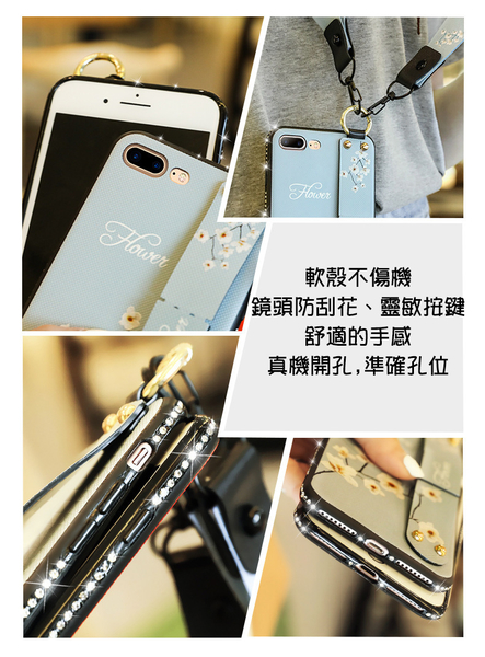 華為手機殼Nova4e保護套Nova3e 軟殼Nova3水鑽邊框復古壓花布紋背板腕帶掛繩支架Nova3i手機套