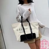 帆布包女包洋氣單肩包購物大包包女包側背包【匯美優品】