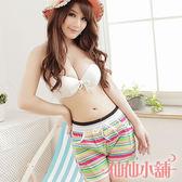 海灘褲 彩 Shiny Girl 女海灘褲 情侶裝 短褲 泳衣 比基尼 泳裝 仙仙小舖