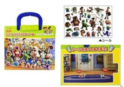 【日本迪士尼】巴斯光年 情境手提式貼紙書←貼紙書 動手玩創意